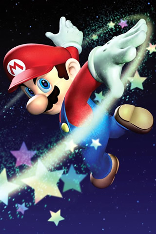 super mario wallpaper. Super Mario Galaxy iPhone