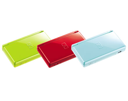 Nintendo DS Lite - Green, Red, Ice Blue