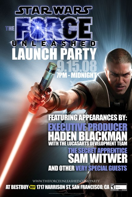 Star Wars: The Force Unleashed Launch Party
