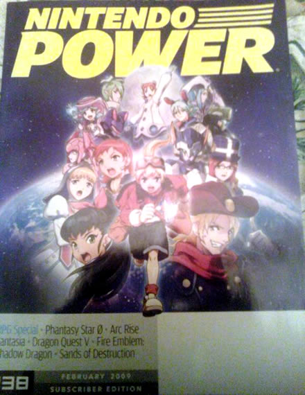 Phantasy Star Zero Nintendo Power Cover