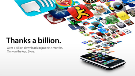 1 Billion Apps Downloaded from the Apple Apps Store