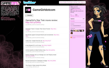 GameGirl.com Twitter Background