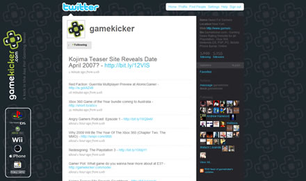 GameKicker.com Twitter Background