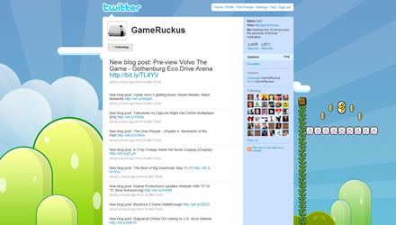 GameRuckus.com Twitter Background