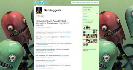 Gaminggeek Twitter Background