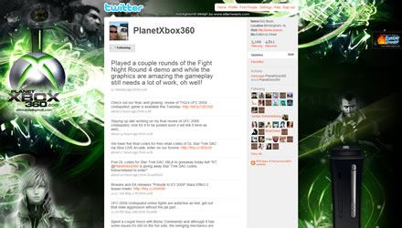 PlanetXbox360 Twitter Background