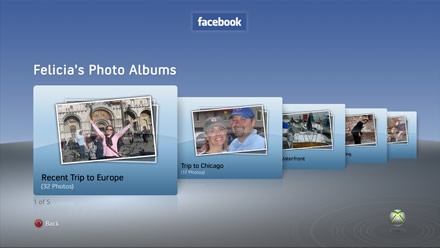 Facebook on Xbox 360 - Felicia's Photos