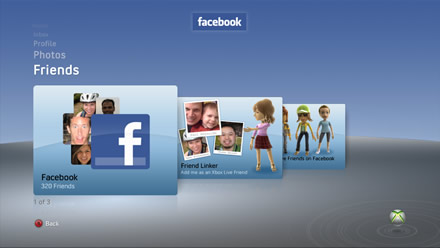 Facebook on Xbox 360 - Friends