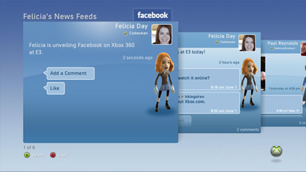 Facebook on Xbox 360 - Add News Feeds