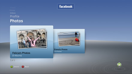Facebook on Xbox 360 - Photos