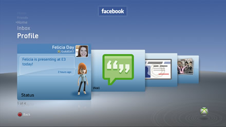 Facebook on Xbox 360 - Profile