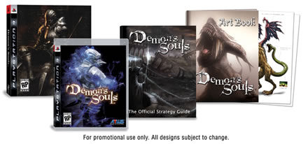 Demon's Souls for PlayStation 3 Pre-Order Bonus Art Book & Deluxe Edition