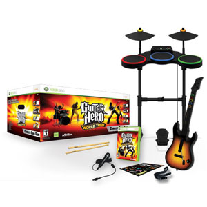Guitar Hero World Tour Band Kit - Xbox 360