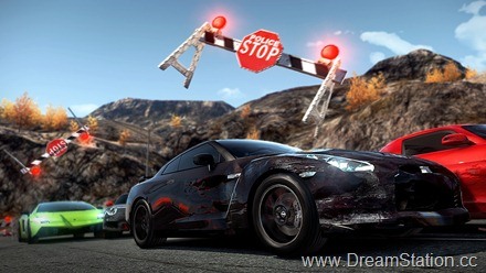 NFS_Hot_Pursuit_Nissan_GTR_road_block